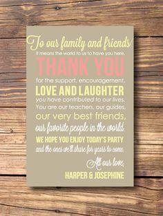 Custom Wedding Thank You Cards by PepitaPress on Etsy