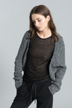 NEW Knitted Bolero Shrug / Wool Sweater / Stylish by marcellamoda