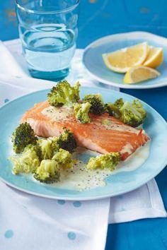 Lachs mit Broccoli-Rahm - [ESSEN UND TRINKEN]