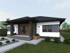 Modern Exterior House Designs, Dream House Exterior, Modern House Design, Exterior Design, Modern Bungalow Exterior, Minimalist House Design, Small House Design, Minimalist Home, Modern Bungalow House