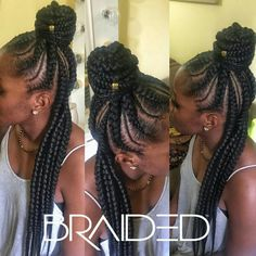 Cornrow Ponytail, Hair Ponytail Styles, Kid Braid Styles, Braided Ponytail Hairstyles, Weave Hairstyles, Braid Hair, Braided Mohawk, Black Hairstyles, Bts Hairstyle