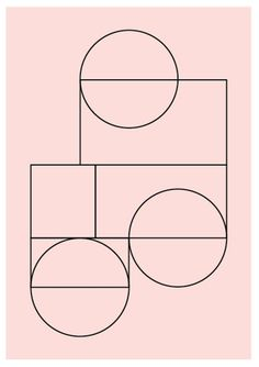 black lines on pale pink Lene Norgaard
