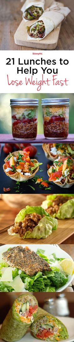 Lunches to Help You Lose Weight Fast Sink your teeth into these yummy lunches for weight loss.Sink your teeth into these yummy lunches for weight loss. Low Calorie Recipes, Diet Recipes, Cooking Recipes, Healthy Recipes, Clean Eating Diet, Clean Eating Recipes, Frozen Meals, Weight Watchers Meals, How To Lose Weight Fast