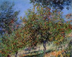 Apple Trees on the Chantemesle Hill, 1878, Claude Monet