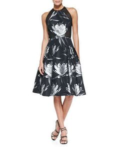 Sleeveless Floral Party Dress by Carmen Marc Valvo at Neiman Marcus.