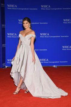 Daniela Lopez in a Cristina Ottaviano's gown