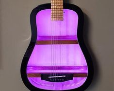 Guitar Shelf, Guitar Wall, Electric Guitar Case, Wall Hanging Shelves, Music Rooms, Guitar Tutorial, Wine Bottle Holders, Color Changing Led, Acoustic Guitar