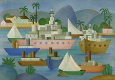 O Porto, pintura de Tarsila do Amaral
