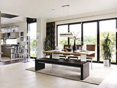 Wohnbereich im Haus Balance 400 von WeberHaus • Mit Musterhaus.net Traumhaus finden und Wohnbereiche zum Wohlfühlen gestalten.