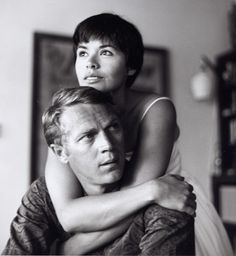 theniftyfifties: Steve McQueen and Neile Adams at home, 1958. Photo by Curt Gunther.