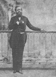D. Pedro II em auto-retrato em 1852 aproximadamente.