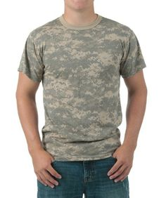 Adult Vintage ACU Digital Camo T-Shirt: For days when you feel like being a military man, without all the… #TShirts #CustomShirts #BandTees