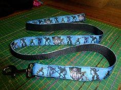 Transformers ribbon lead on black webbing $25