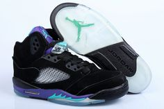 Air Jordan 5 V Retro Black Purple shoes