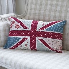 floral union jack cushion by louisa