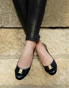 Truffol.com | Every woman needs a pair of Salvatore Ferragamo flats. Stylish and…
