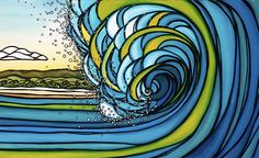 Surf art of the day.   Available at ClubofTheWaves.com    Http:www.surfrecyclesandiego.com