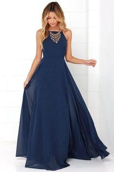 Mythical Kind of Love Navy Blue Maxi Dress 9