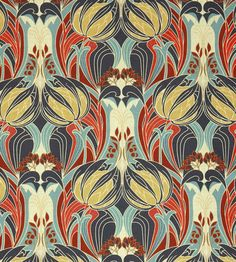 Kate Nouveau - Kingly fabric, from the The Heritage Collection collection by Liberty Art Pattern Dots, Doodle Pattern, Pattern Texture, Surface Pattern Design, Pattern Fabric, Art Nouveau Pattern, Art Nouveau Design, Liberty Art Fabrics, Liberty Print