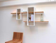 Un système de double étagères, ingénieux et ludique. Design Olivier Chabaud pour Compagnie - 395€