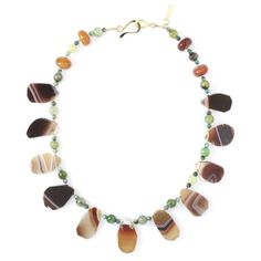 Natural agate necklace by Steinen