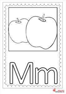 Litera M -Planșă de colorat