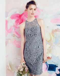J.Crew Pamela dress in leavers lace. To preorder call 800 261 7422 or email erica@jcrew.com.