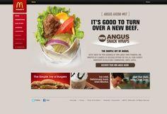 McDonalds  #webdesign #web #design #inspiration #JablonskiMarketing #marketing #branding