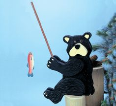 Fishin' Bear Woodcrafting Pattern