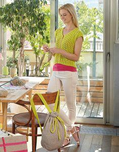 Catalogue Femme 82 Printemps / Été | 57: Femme Sac à dos  | Jaune citron / Beige