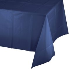 Navy Blue Plastic Tablecloths   54 X 108 Inch