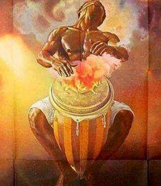 Black History Article Archive on the Kingdoms and Empires of Pre-Colonial Africa African Artwork, African Art Paintings, Shango Orisha, Orishas Yoruba, African Mythology, Afrique Art, Caribbean Art, Black Love Art, Afro Art