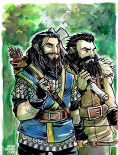 SEASONS: Summer - Prince Thorin & Young Dwalin. By Aimo.