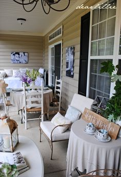 Dear Lillie: Color on the Porch Part II (The Blue Armoire)