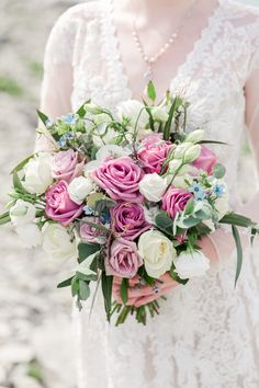Wedding Flowers / bridal bouquet / wedding florals, roses, lisianthus, pink and white Bouquet Wedding, Floral Wedding, Wedding Flowers, Anna, Wedding Details, Florals, Floral Wreath, Roses, Wedding Photography