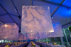 overhead projected wallpaper pattern for wedding | Drawing on the ethereal, ghostly set of the famous ballet, designer