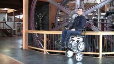 """This is """"DEKA Toyota Launch May 19 on Vimeo. Dean Kamen and Toyota develop updated iBot wheelchair. Toyota, Robotics And Artificial Intelligence, Stair Climbing, Powered Wheelchair, Stand Up, Scale, Stairs, History, Tech News"""