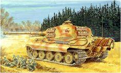 Tiger II Sd.Kfz. 182 'King tiger' del Battaglione pesante 505°, con torretta Henschel. -  Ron Volstad