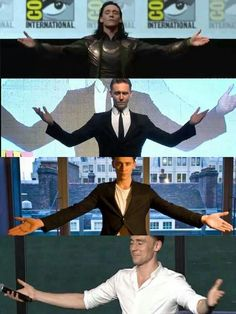Loki ~ Tom Hiddleston. Don't you just want to run into those arms...for a big hug? : )<--- YES!!!