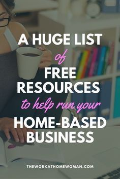HUGE List of Free Resources to Help Run Your Home-Based Business This list is amazing - there are over free resources and tools for small business owners!This list is amazing - there are over free resources and tools for small business owners! Craft Business, Home Based Business, Creative Business, Online Business, Etsy Business, Small Business Advertising Ideas, Small Business Marketing, Home Business Organization, Business Accounting