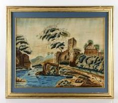 19TH C. PAINTING ON FELT April 26th Estate Auction | Kaminski Auctions