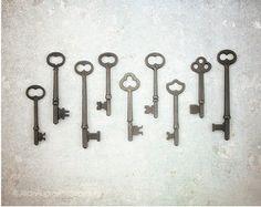 ALTE Schlüssel Sammlung antiken Schlüssel von susannajarian auf Etsy