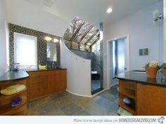 exceptional shower area in this large bathroom