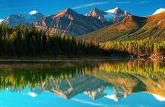 Earth Mountain  Lake Reflection Canada Wallpaper