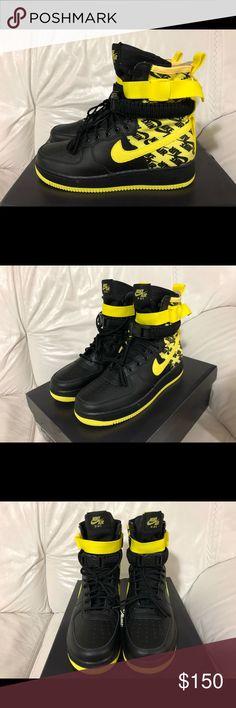 716ffddaae801a Nike SF AF1 Air Force One Black Dynamic Yellow New Nike SF AF1 Air Force One