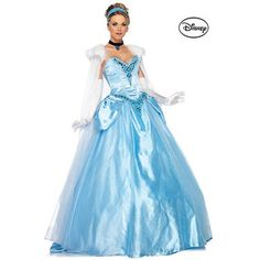 Deluxe Princess Cinderella Ball Gown Womens Disney Costume
