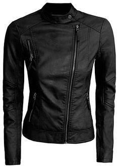 hot black leather jacket