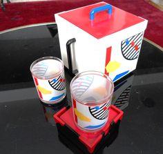 Square Briard Ice Bucket Postmodern Rare by GhianniFindingsPlus