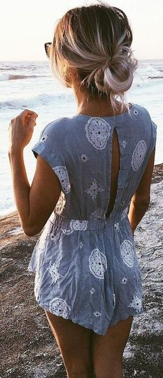 cool Maillot de bain : Grey Print Playsuit                                                             ...