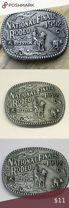 1987 Hesston Hat Pin National Finals Rodeo NEW FREE SHIPPING